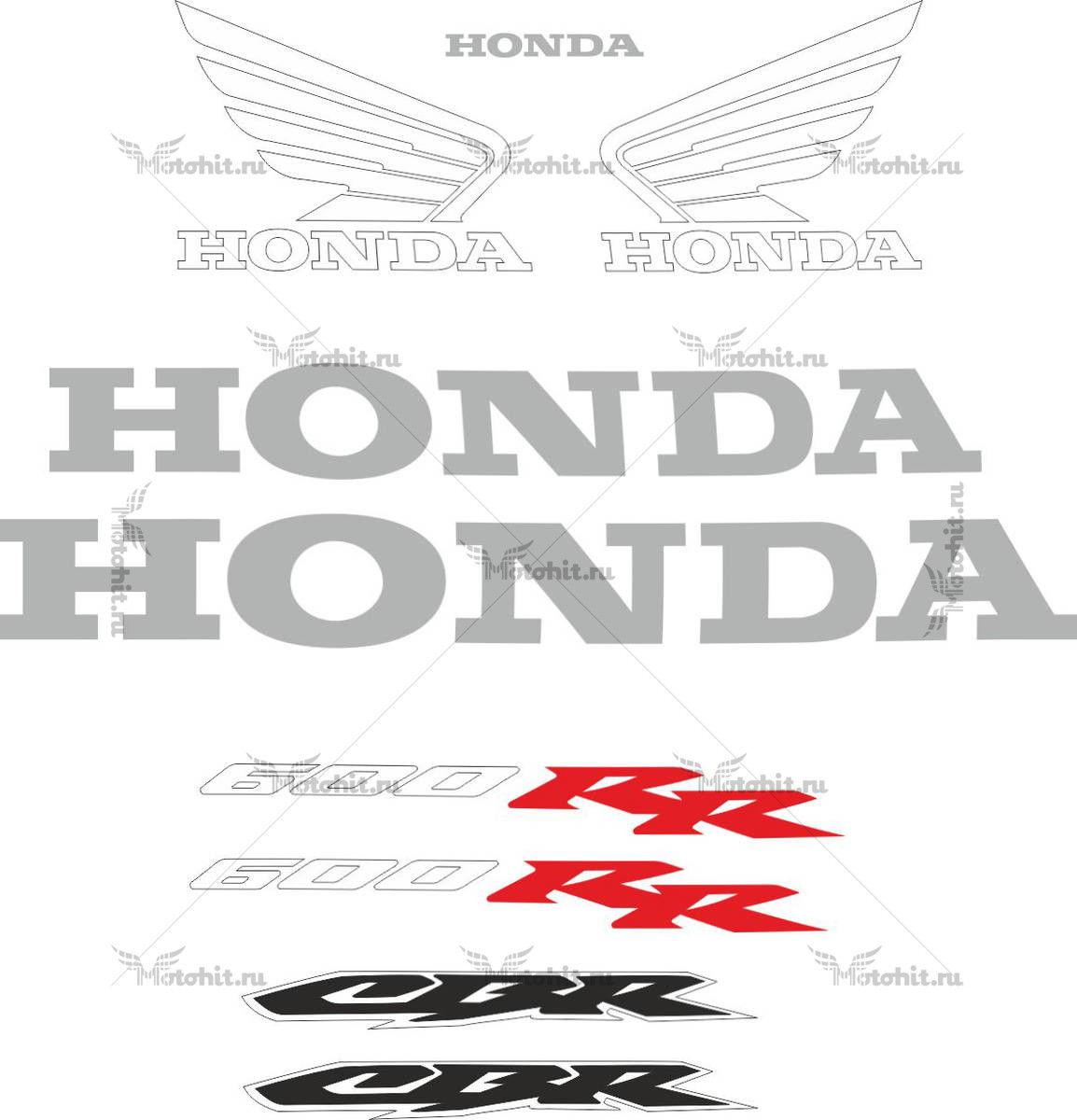 Комплект наклеек Honda CBR-600-RR 2003-2004 SIDE