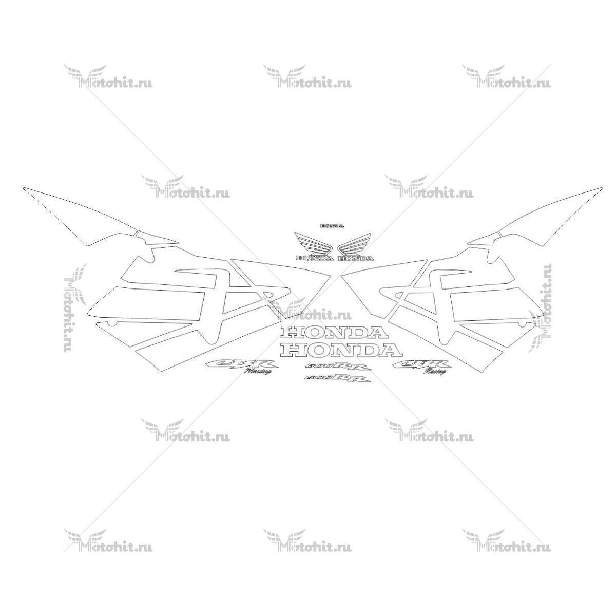 Комплект наклеек Honda CBR-600-RR 2003-2005
