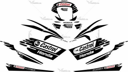 Комплект наклеек Honda CBR-600-RR 2004-2006 CASTROL