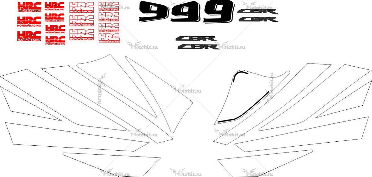 Комплект наклеек Honda CBR-600-RR 2004 CARISMA