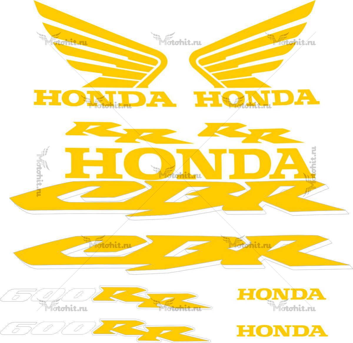 Комплект наклеек Honda CBR-600-RR 2005-2006 DORADA