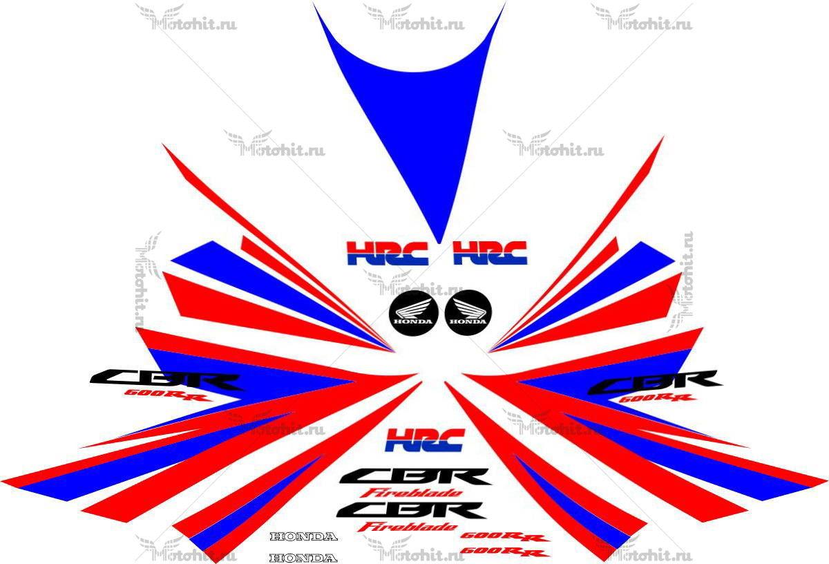 Комплект наклеек Honda CBR-600-RR 2005 HRC