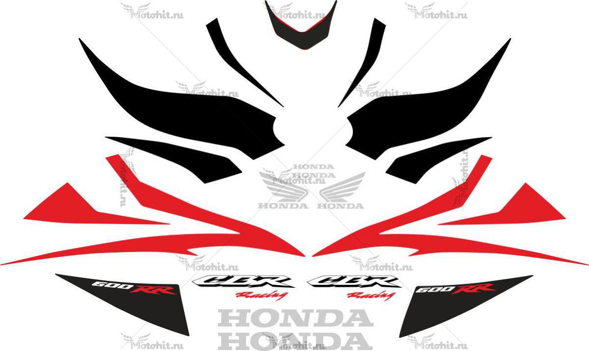 Комплект наклеек Honda CBR-600-RR 2007-2008