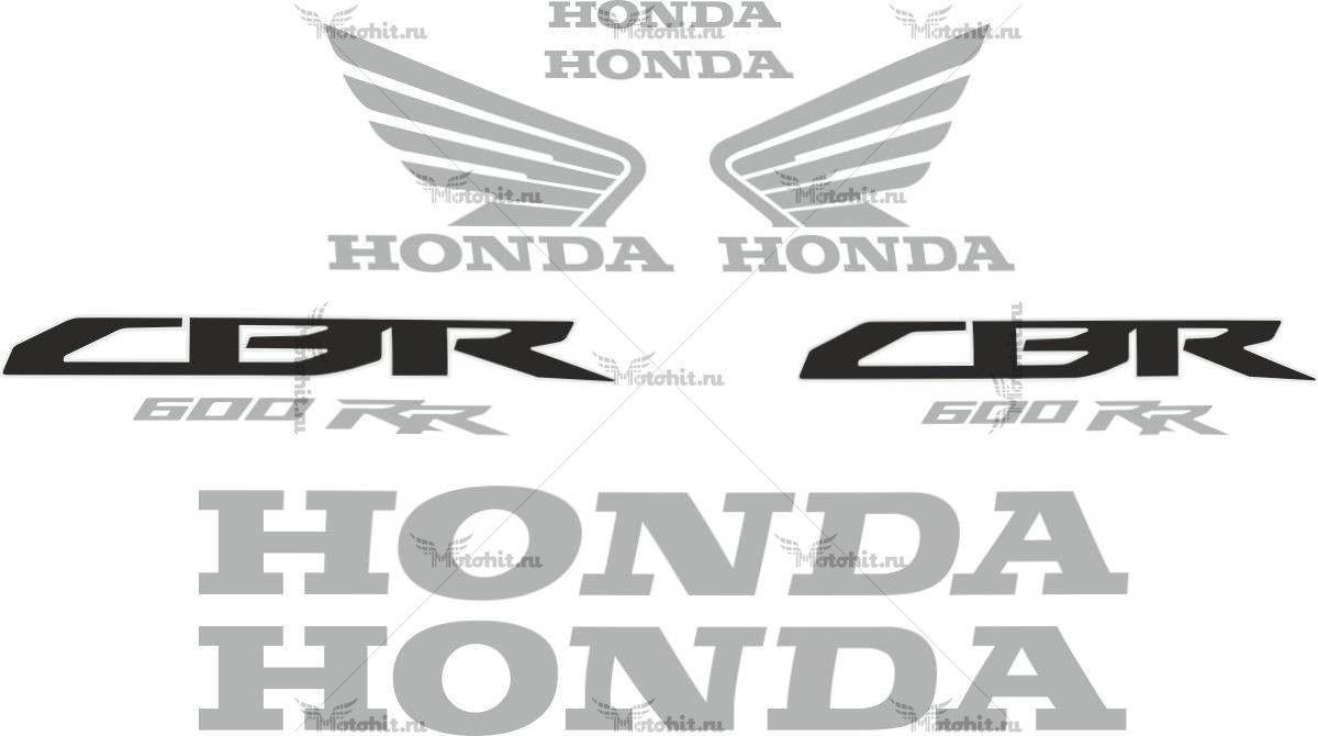 Комплект наклеек Honda CBR-600-RR 2011-2012 BLACK