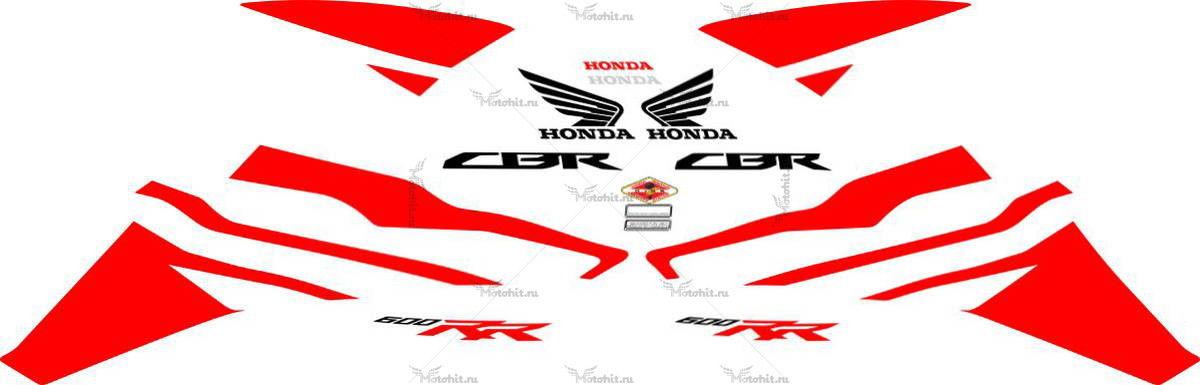 Комплект наклеек Honda CBR-600-RR 2011-2012 RED