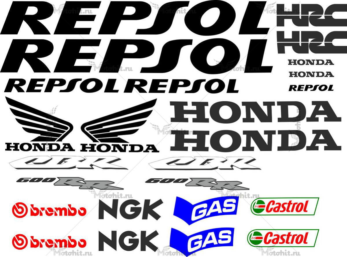 Комплект наклеек Honda CBR-600-RR 2013 REPSOL