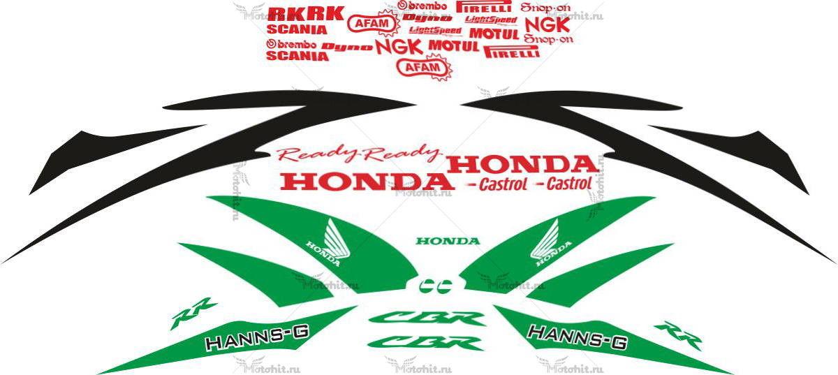 Комплект наклеек Honda CBR-600-RR HANNSPREE-SVILUPPATO