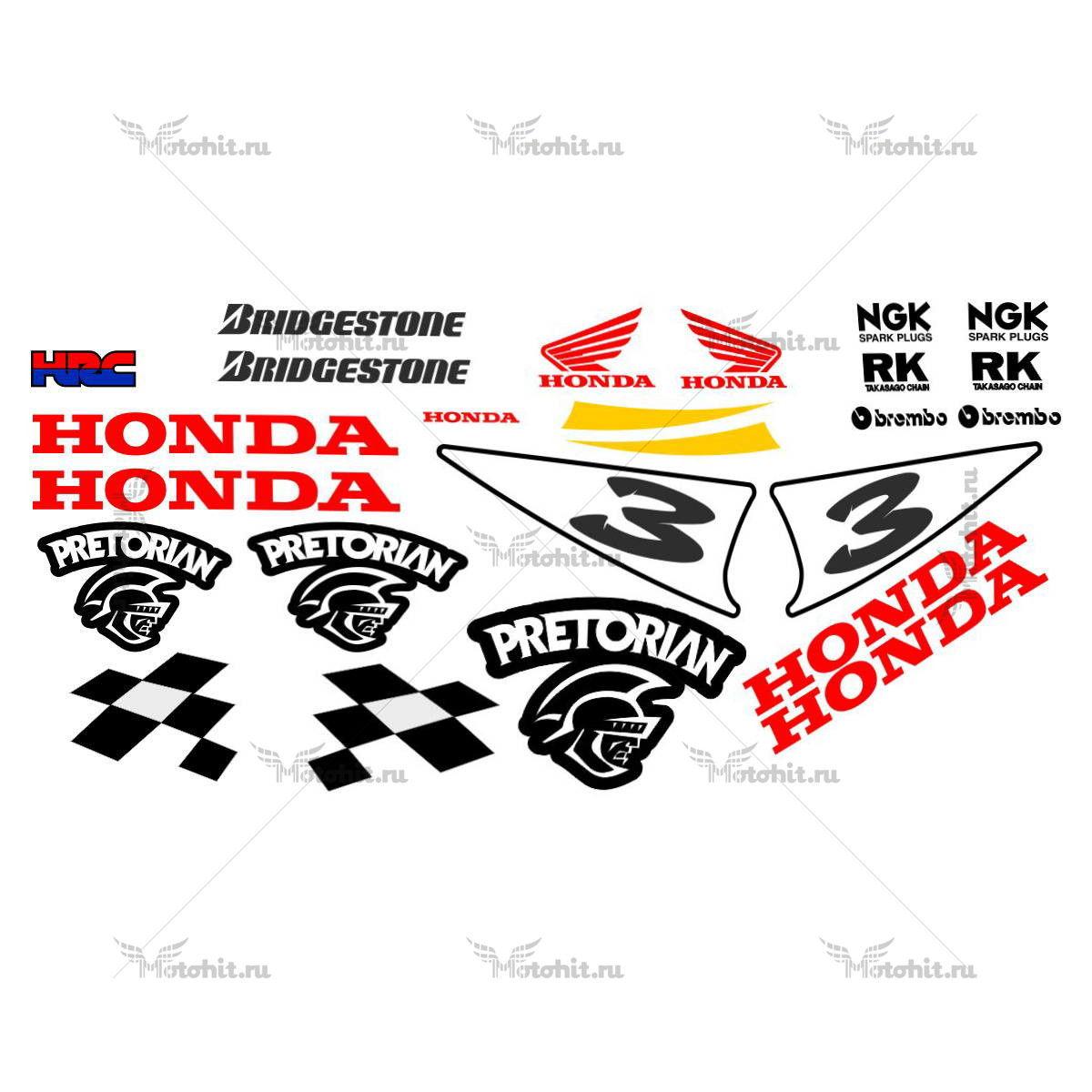 Комплект наклеек Honda CBR-600-RR PRETORIAN