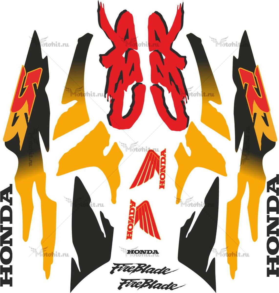 Комплект наклеек Honda CBR-900-RR 1993-1994 FULL