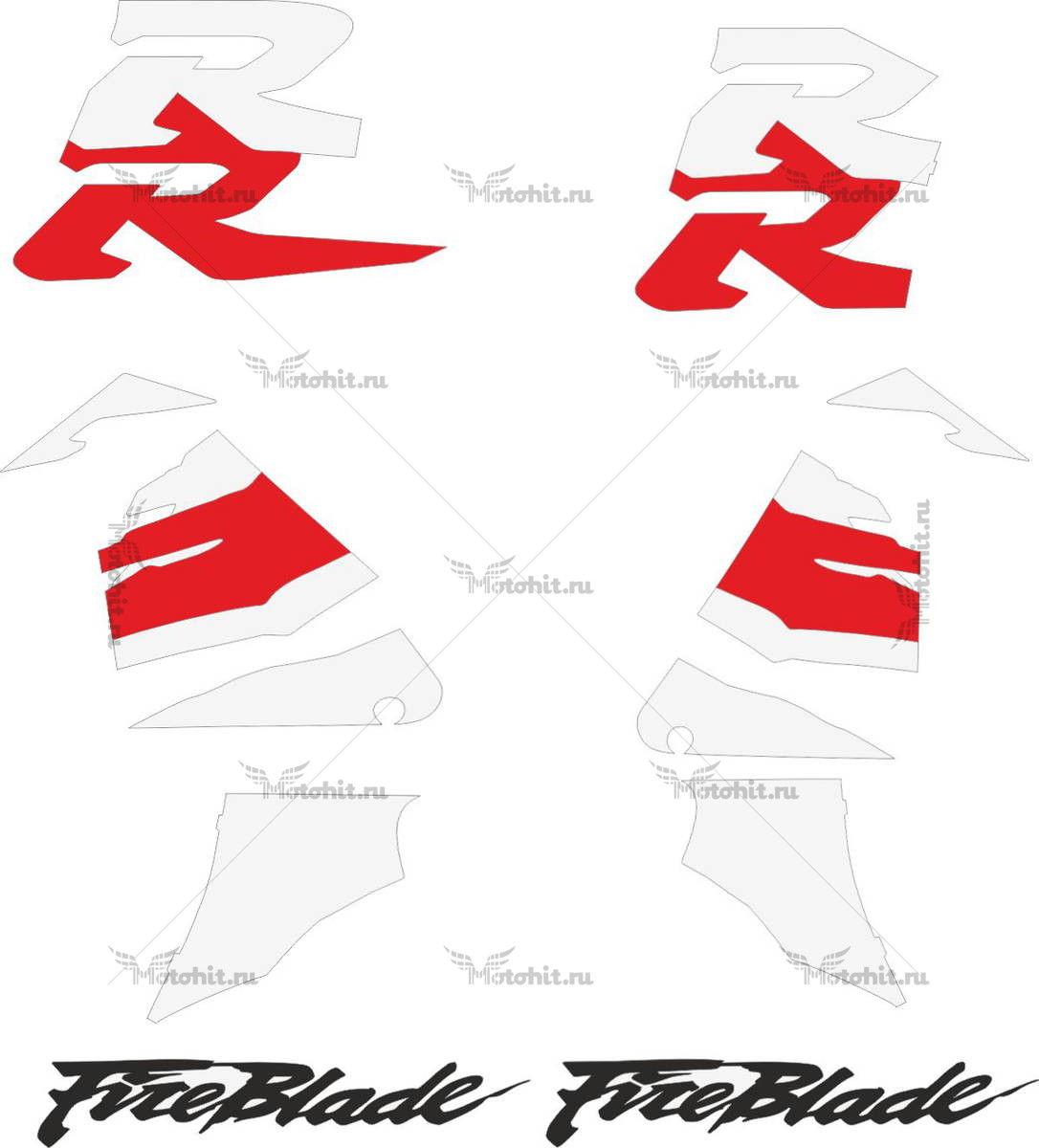 Комплект наклеек Honda CBR-900-RR 1996-1997 FIREBLADE-STD