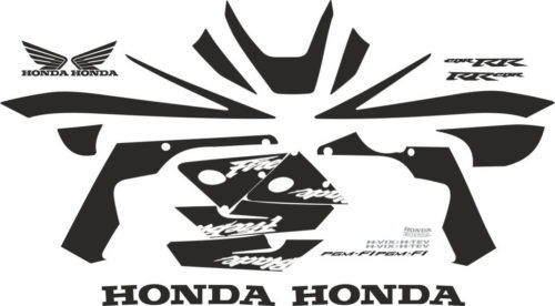 Комплект наклеек Honda CBR-929-RR 2000-2001 BLACK