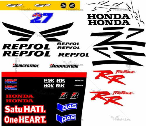 Комплект наклеек Honda CBR-954 REPSOL-STONER