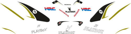 Комплект наклеек Honda CBR-1000 2009 PLAYBOY
