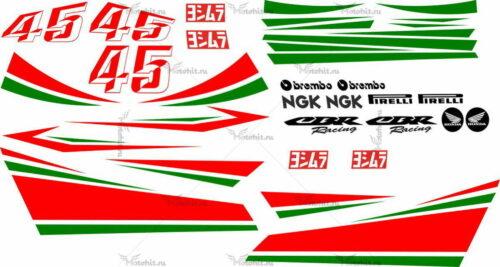 Комплект наклеек Honda CBR-1000 DISEÑO-JORGE-BARREDA