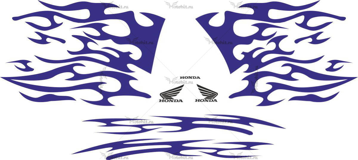 Комплект наклеек Honda CBR-1000 FLAMES