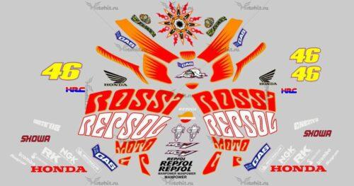 Комплект наклеек Honda CBR-1000-RR 2003 RC-211-V-REPSOL