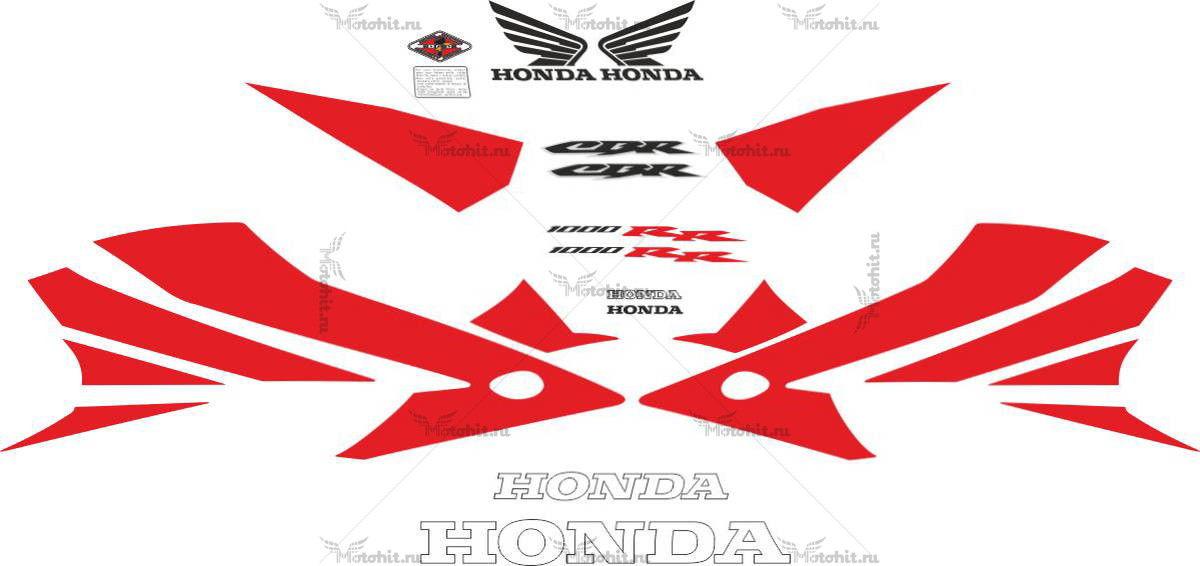 Комплект наклеек Honda CBR-1000-RR 2004-2005 RED