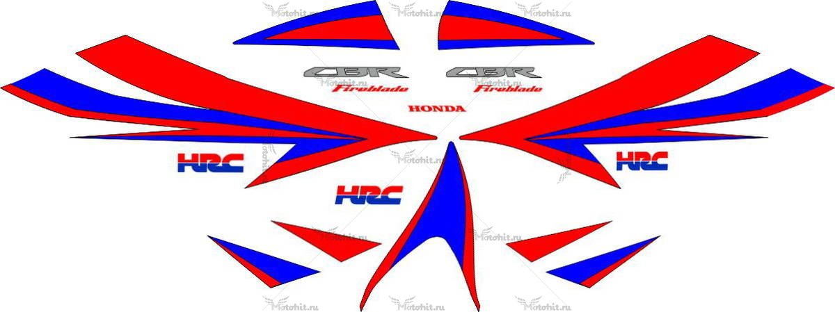 Комплект наклеек Honda CBR-1000-RR 2004 HRC