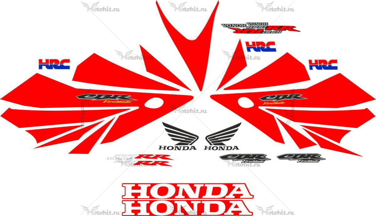 Комплект наклеек Honda CBR-1000-RR 2004 MORE-RED-HRC