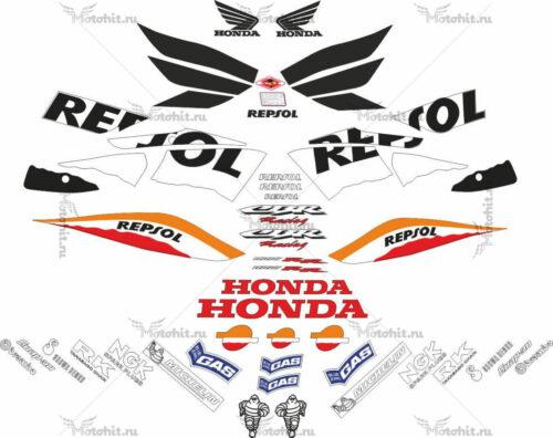 Комплект наклеек Honda CBR-1000-RR 2005 REPSOL-LIGHT
