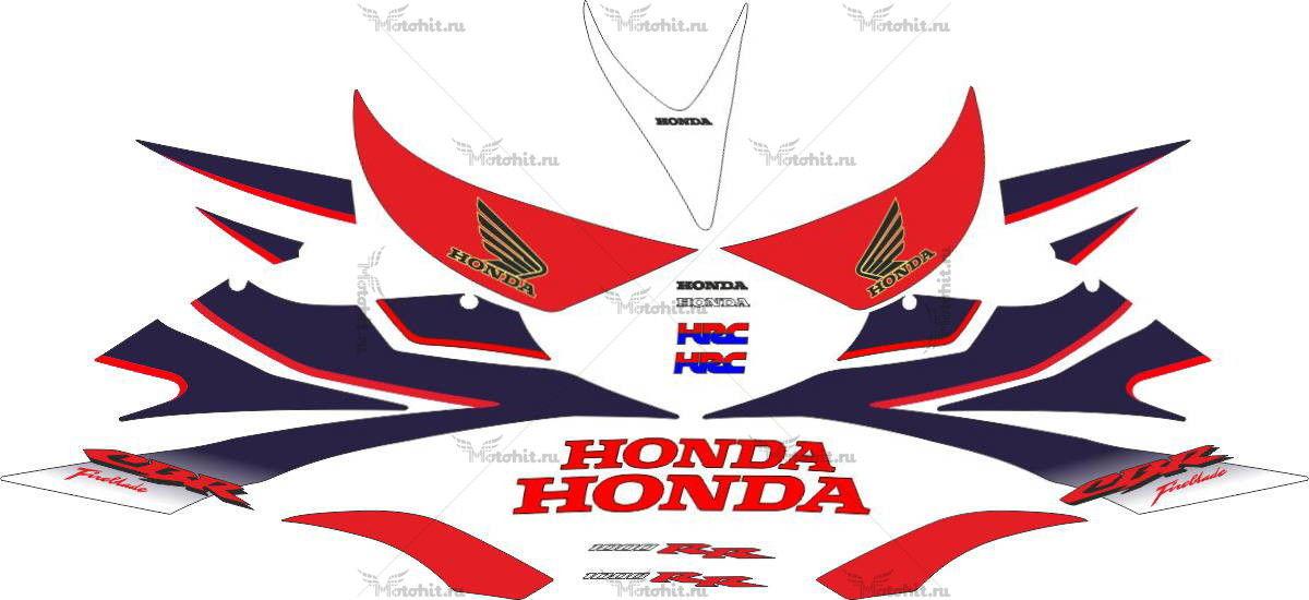 Комплект наклеек Honda CBR-1000-RR 2006-2007