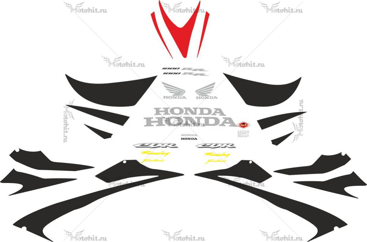 Комплект наклеек Honda CBR-1000-RR 2006-2007 FULL
