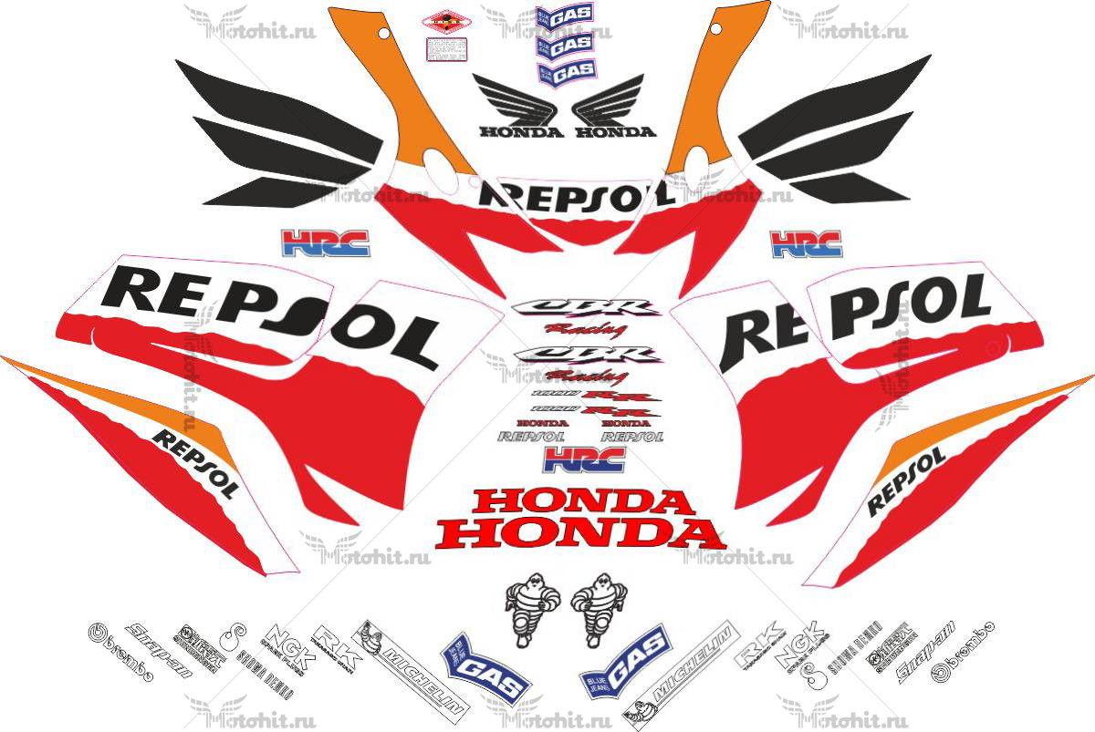 Комплект наклеек Honda CBR-1000-RR 2006-2007 REPSOL-FULL