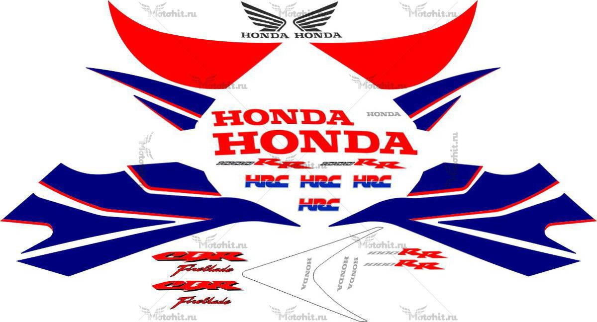 Комплект наклеек Honda CBR-1000-RR 2007 HRC