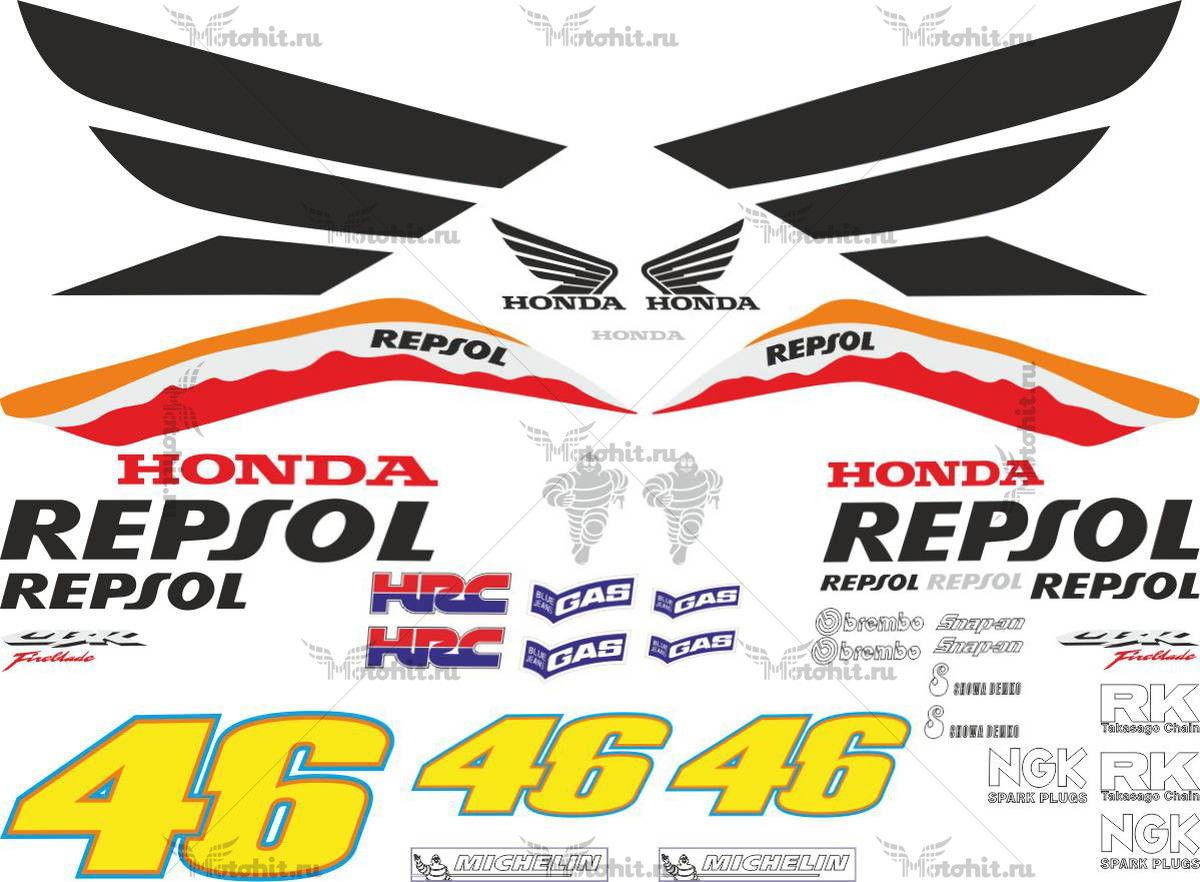 Комплект наклеек Honda CBR-1000-RR 2007 REPSOL-2