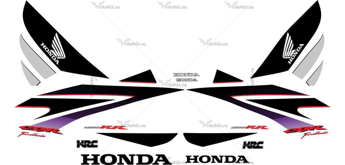 Комплект наклеек Honda CBR-1000-RR 2007 ROSSO