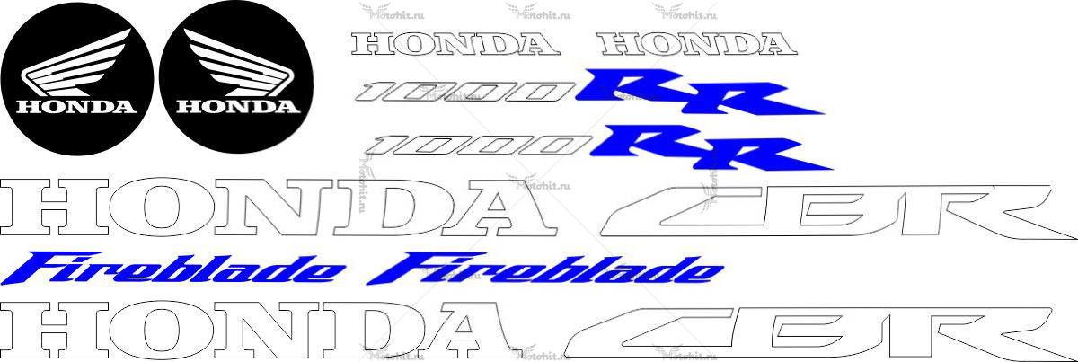 Комплект наклеек Honda CBR-1000-RR 2008
