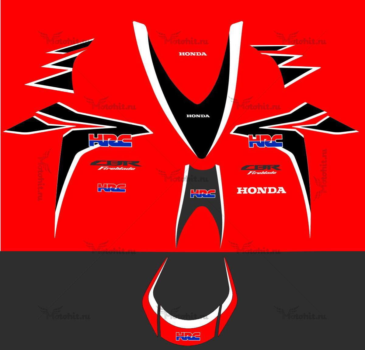 Комплект наклеек Honda CBR-1000-RR 2009 HRC