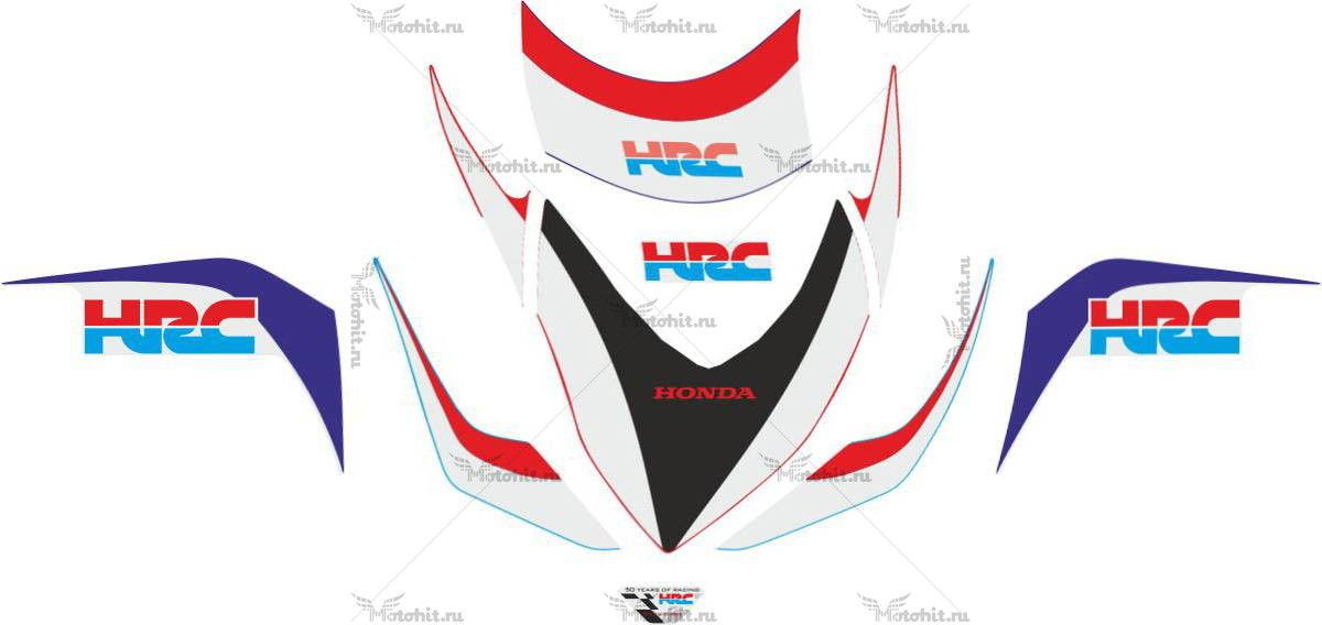 Комплект наклеек Honda CBR-1000-RR 2009 HRC-PART