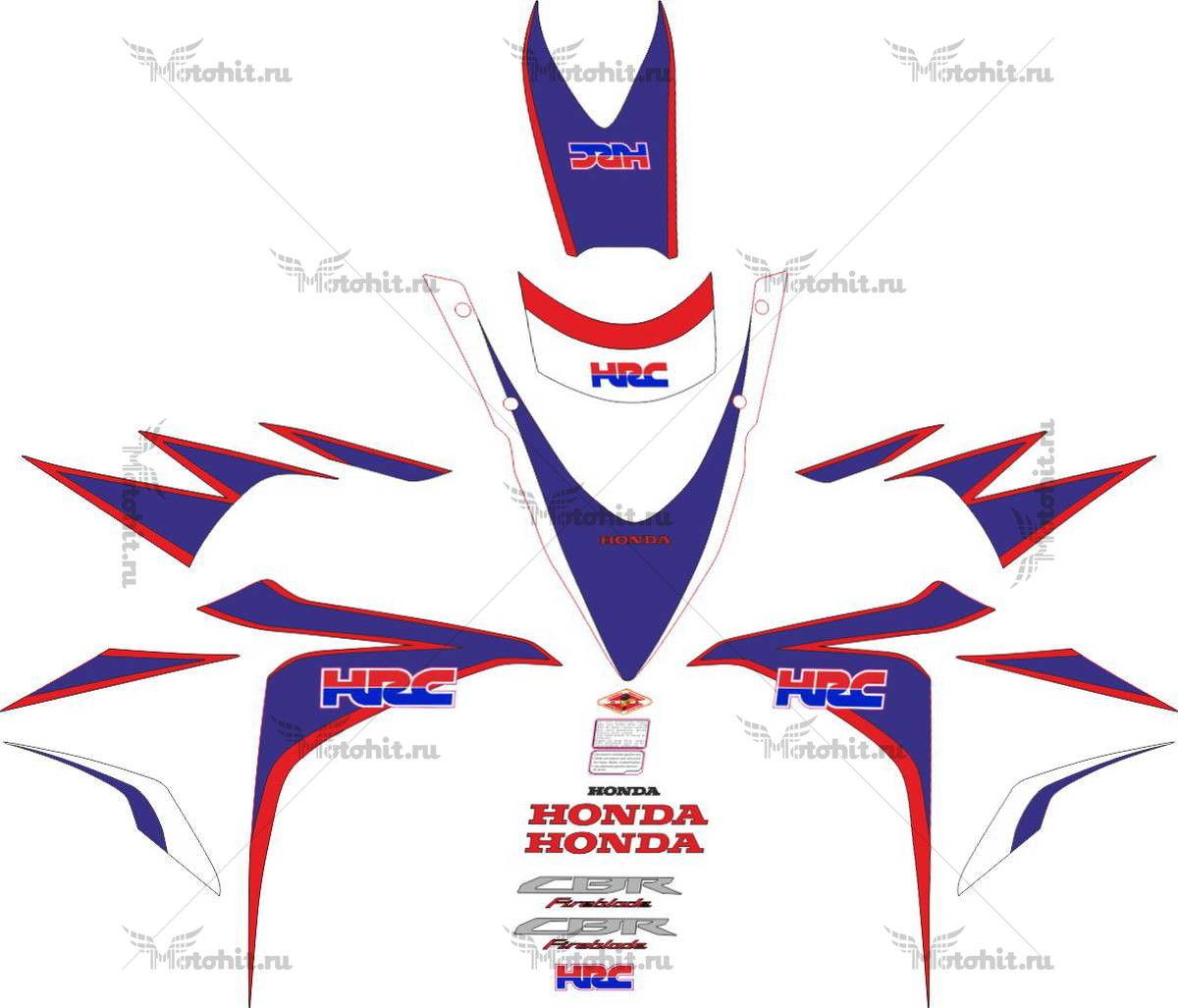 Комплект наклеек Honda CBR-1000-RR 2010-2011