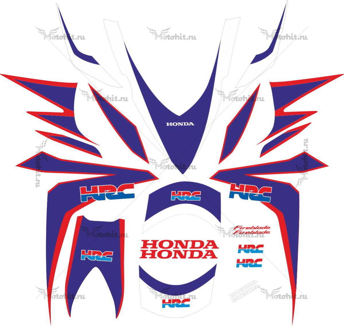 Комплект наклеек Honda CBR-1000-RR 2010 HRC