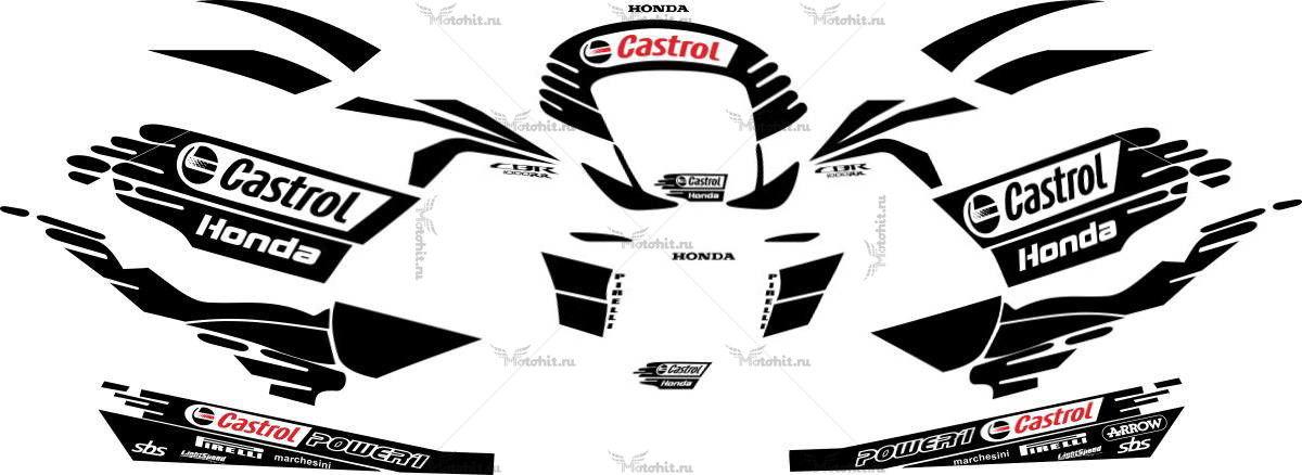 Комплект наклеек Honda CBR-1000-RR 2011-2012 CASTROL