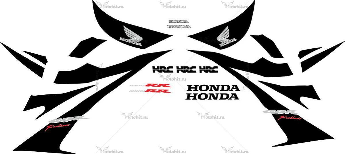 Комплект наклеек Honda CBR-1000-RR 2012 FIREBLADE