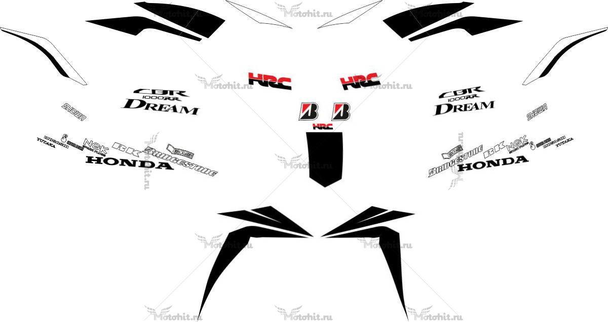 Комплект наклеек Honda CBR-1000-RR SBK8