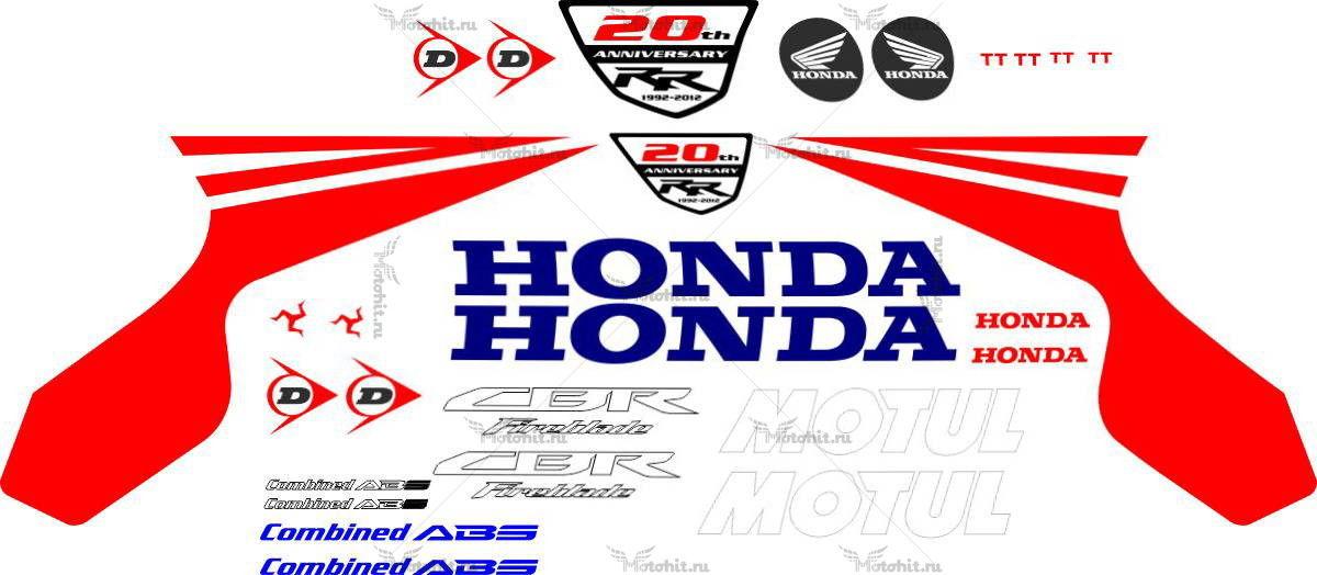 Комплект наклеек Honda CBR-1000-RR TT-LEGENDS