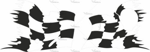 Комплект наклеек Honda CBR-1100-RR 2002 BLACKBIRD-FLAGS