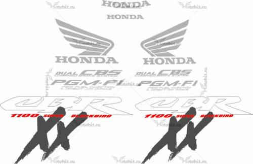Комплект наклеек Honda CBR-1100-XX 1999-2007 RED