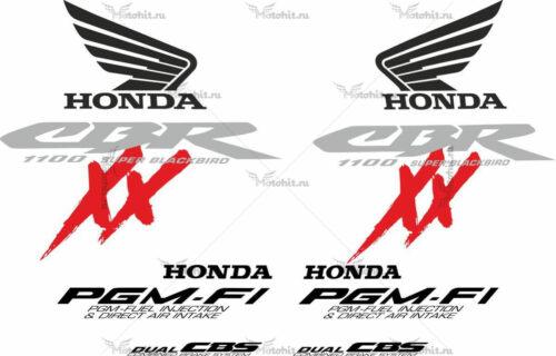 Комплект наклеек Honda CBR-1100-XX 2000 BLACKBIRD-REDXX