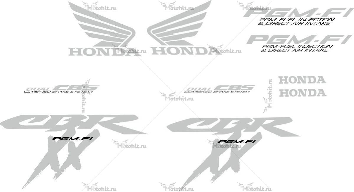Комплект наклеек Honda CBR-1100-XX 2003 BLACKBIRD