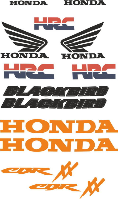 Комплект наклеек Honda CBR-1100-XX BLACKBIRD-HRC