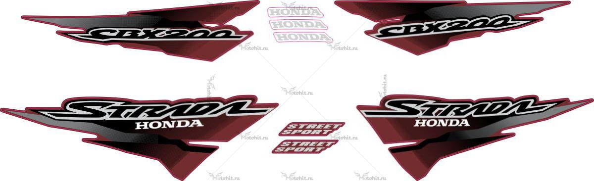 Комплект наклеек Honda CBX-200 2002