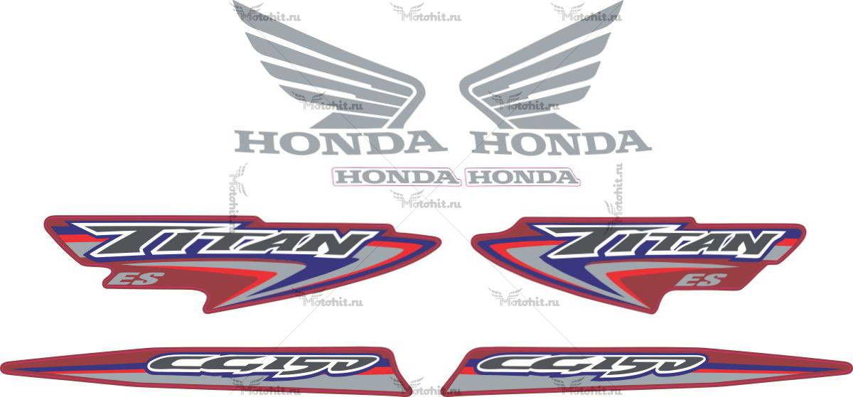 Комплект наклеек Honda CG-150 2007 TITAN