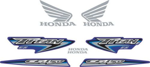 Комплект наклеек Honda CG-150 2007 TITAN-BLUE