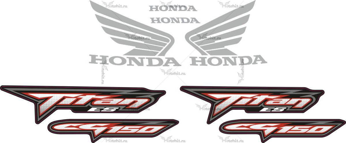 Комплект наклеек Honda CG-150 2008 ES