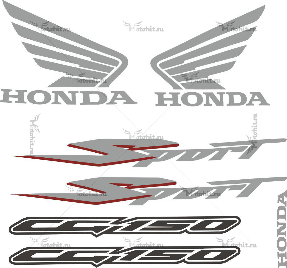 Комплект наклеек Honda CG-150 2008 ES-TITAN-SPORT