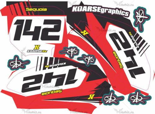 Комплект наклеек Honda CRF-150 2010 KOARSE